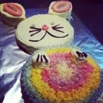 Rainbow Rabbit Birthday Cake